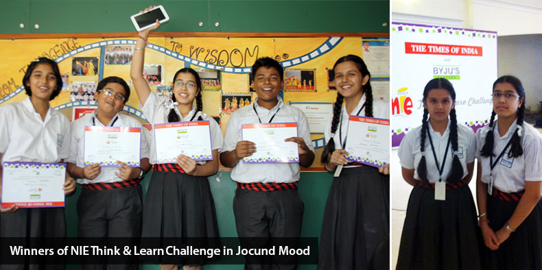Winners of NIE Think & Learn Challenge in Jocund Mood