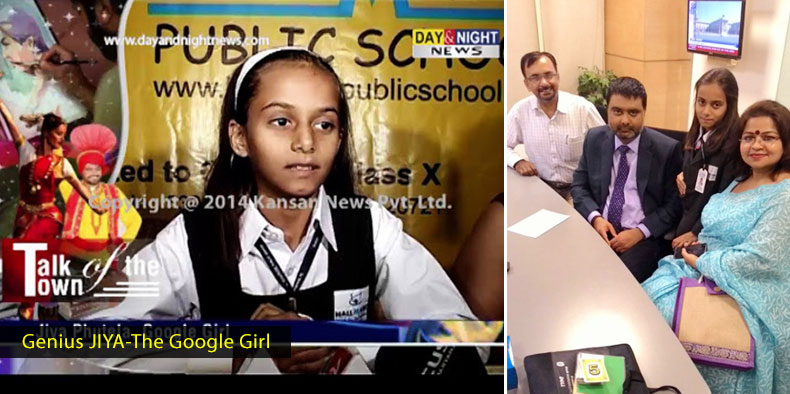 Genius JIYA- The Google Girl in Hallmark Public School