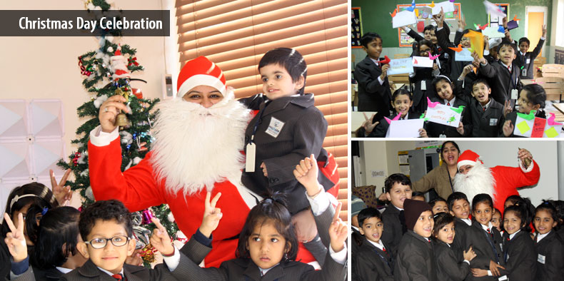 Santa Showers His Blessings @ Hallmark Public School