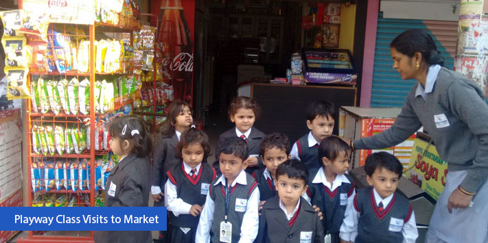 Playway Class Visits to Market